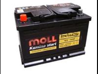 Batterie remplie 074AH - 278x175x190 - Plus à gauche